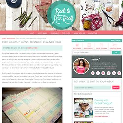 free healthy living printable planner page « Motivation « back to her roots