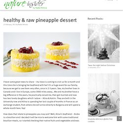 healthy & raw pineapple dessert | NatureInsider.com