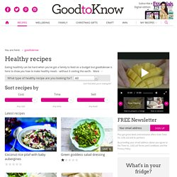 Healthy eating - recipes