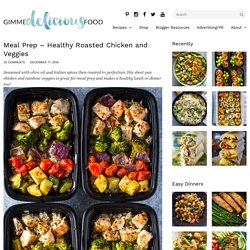 Meal Prep – Healthy Roasted Chicken and Veggies