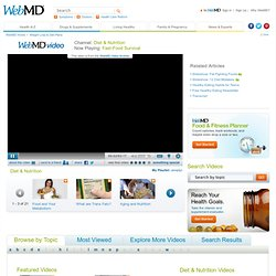 Fast Food Healthy Selections - Watch WebMD Video