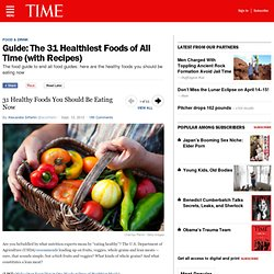 Guide: The 31 Healthiest Foods of All Time (with Recipes)