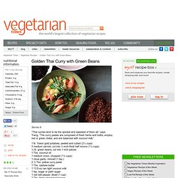 Healthy and Spicy Green Bean Curry
