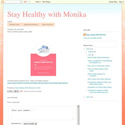 Stay Healthy with Monika: How to sterilize plastic baby bottle