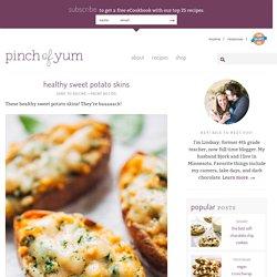 Healthy Sweet Potato Skins Recipe