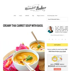Healthy Thai Carrot Soup