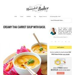 Healthy Thai Carrot Soup