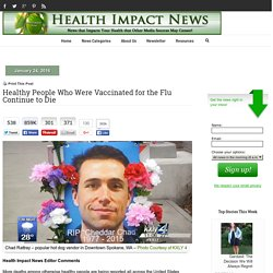 Healthy People Who Were Vaccinated for the Flu Continue to Die