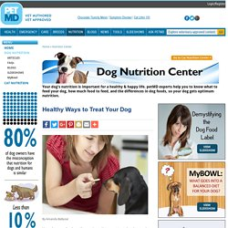 Healthy Ways to Treat Your Dog