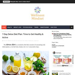 7-Day Detox Diet Plan: Time to Get Healthy & Active - Wellness-Mindset