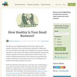 How Healthy Is Your Small Business?
