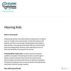 Hearing Aids – Hearing Solution