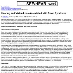 Hearing and Vision Loss Associated with Down Syndrome