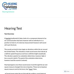 Hearing Test – Hearing Solution