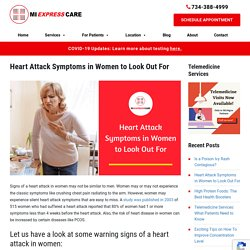 Heart Attack Symptoms in Women to Look Out For