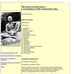 The Heart of Awareness - The Ashtavakra Gita