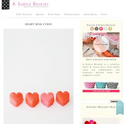 heart milk cubes