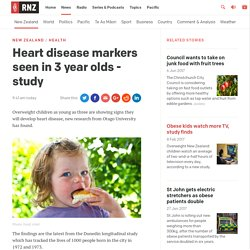 Heart disease markers seen in 3 year olds - study