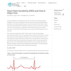 Heart Rate Variability (HRV) and How It Helps You! -