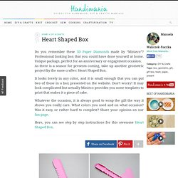 How to Make Heart Shaped Box