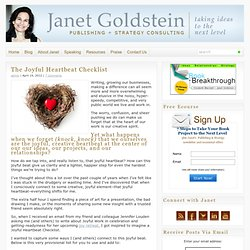 The Joyful Heartbeat Checklist : Janet Goldstein