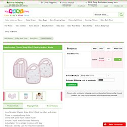 Heartbreaker Classic Snap Bibs 3 Pack Aden and Anais