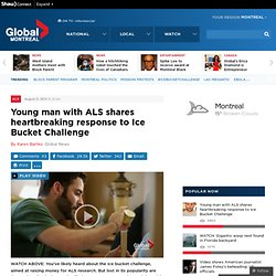 Young man with ALS shares heartbreaking response to Ice Bucket Challenge
