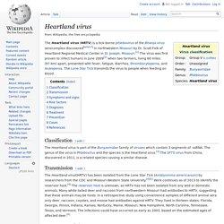 WIKIPEDIA – Heartland virus.