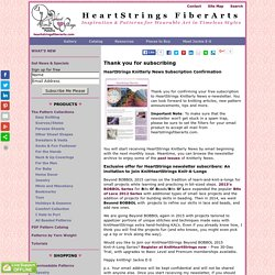 HeartStrings Knitterly News Subscription Confirmation