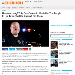 Heartwarming! This Cop Cares So Much For The Peop...