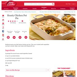 Hearty Chicken Pot Pie Recipe from Betty Crocker