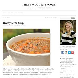 Hearty Lentil Soup « Will Run for Food