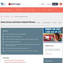 Heat stress and heat-related illness