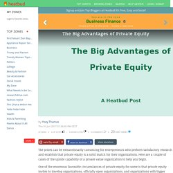 The Big Advantages of Private Equity