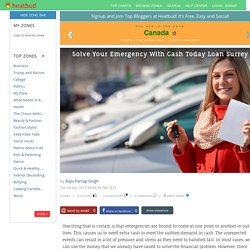 Solve Your Emergency With Cash Today Loan Surrey