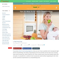 Healthy Tips On What To Eat While Breastfeeding