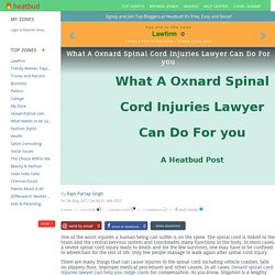 What A Oxnard Spinal Cord Injuries Lawyer Can Do For you
