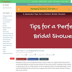 5 Awesome Tips for a Perfect Bridal Shower