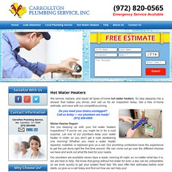 Gas Hot Water Heaters Repair Carrollton, Plano, and Frisco