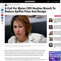 A Call For Mylan CEO Heather Bresch To Reduce EpiPen Price And Resign