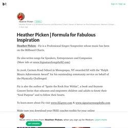 Formula for Fabulous Inspiration – Heather Picken – Medium