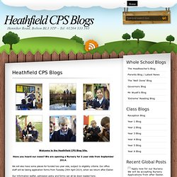 Heathfield CPS Blogs Project Blogs
