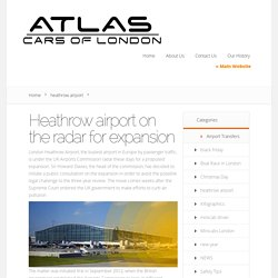 Heathrow airport on the radar for expansion