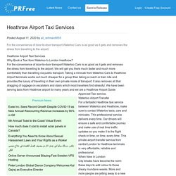 Heathrow Airport Taxi Services