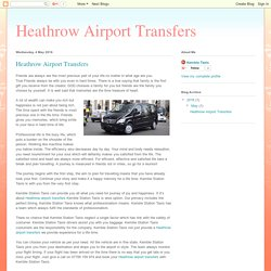 Heathrow Airport Transfers: Heathrow Airport Transfers