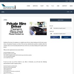 Heathrow Taxi Jobs and Career
