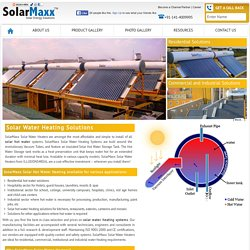 Solar Water Heating System for Home and Businesses from SolarMaxx