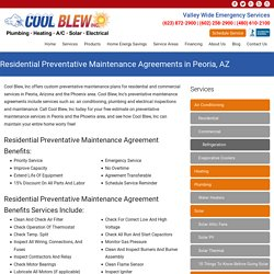 Check Out Residential Preventative Maintenance Benefits & Plans