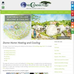 Dome Home Heating and Cooling, Thermal Lag, and Adaptation