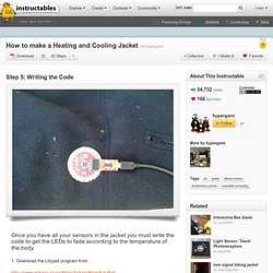 How to make a Heating and Cooling Jacket : Writing the Code